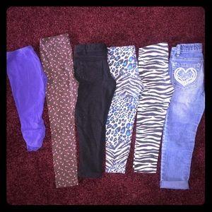 6 Leggings Capris Distressed Skinny Jeans 4T 5T
